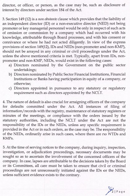 Clarification on prosecutions filed or internal adjudication proceedings - Page 2